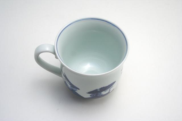 有田焼 青花 異人群反マグカップ