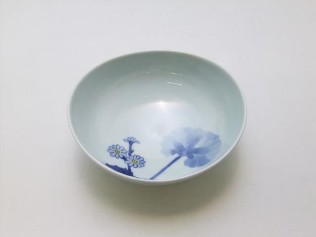 染錦つわぶき楕円鉢 青花 匠