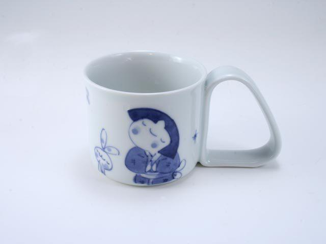 流れ星倒れにくいマグカップ(小) しん窯 青花