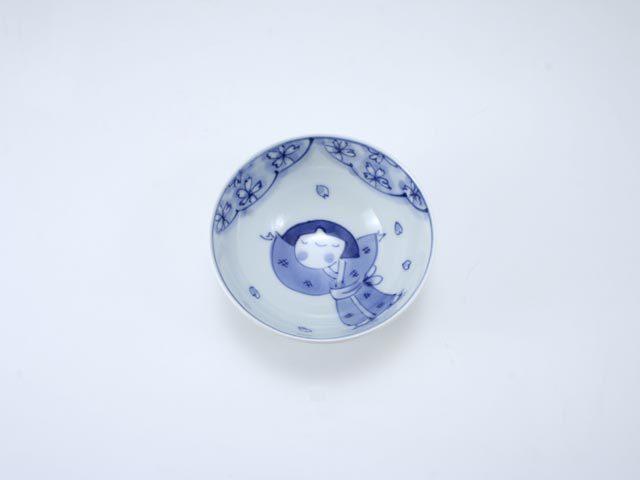 桜物語3.2寸丸飯碗 しん窯 青花