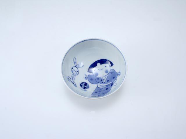 手まりうた3.2寸丸飯碗 しん窯 青花