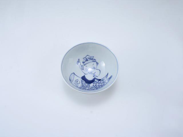 新こいのぼり3.2寸丸飯碗 しん窯 青花