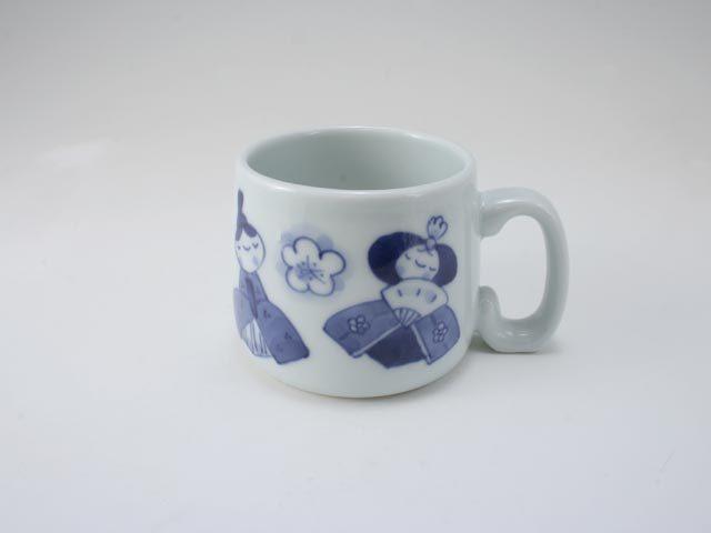 ひな人形子供用マグカップ しん窯 青花