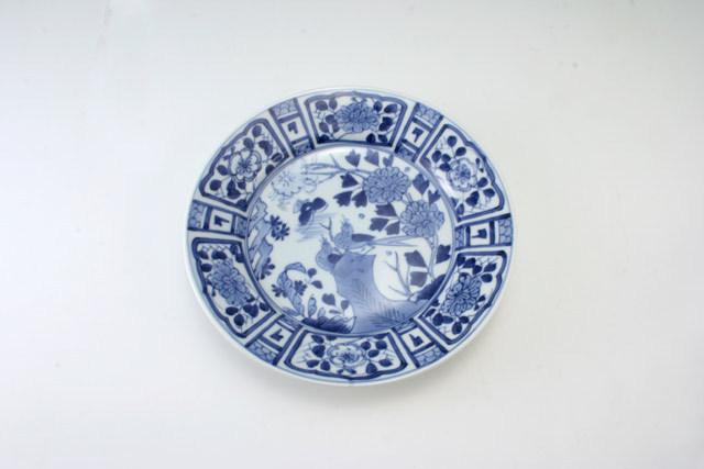有田焼 青花 芙蓉手甲型6寸皿