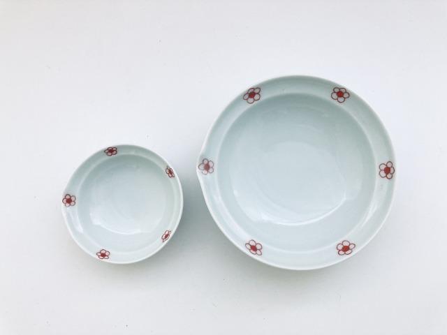 赤梅紋片口取鉢セット青花匠限定商品