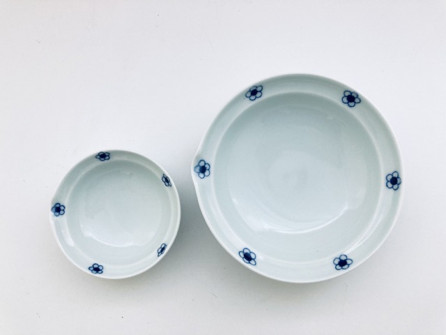 青梅紋片口取鉢セット青花匠限定商品