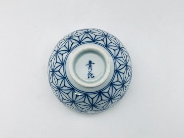 麻の葉3.5寸丸飯碗3