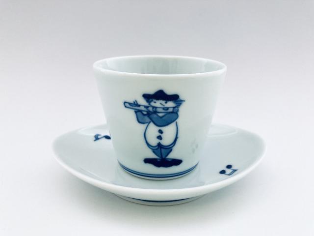 フルートカップ&ソーサー しん窯青花