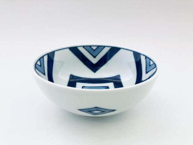 江戸紋4寸ボール しん窯 青花