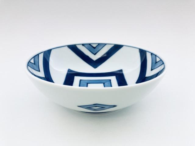 江戸紋5寸ボール しん窯青花