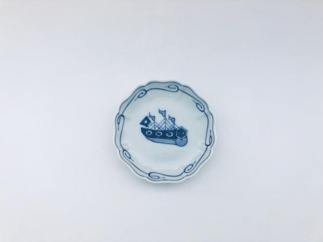 オランダ船八方割小皿