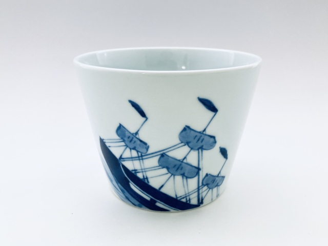 帆船フラワーポット しん窯青花(底穴無)