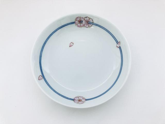 染錦花飾り反5寸皿 しん窯青花匠 限定商品