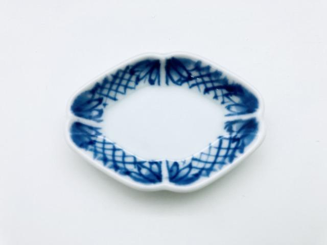 地紋木瓜型箸置き しん窯青花
