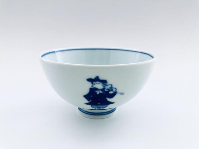 二重奏 3.8寸丸飯碗 しん窯青花