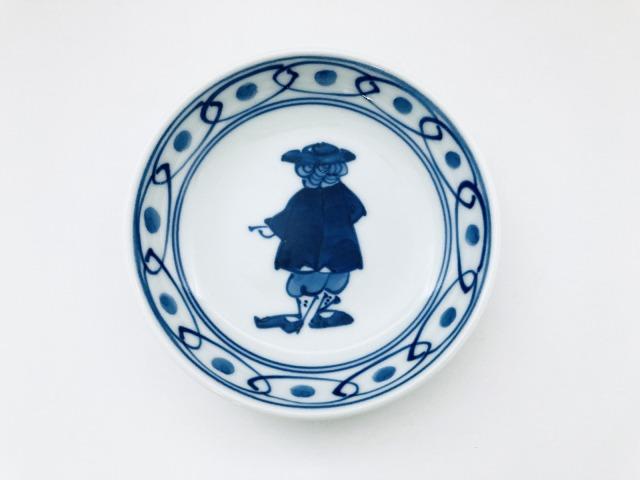 南蛮往来3.6寸深小皿しん窯青花