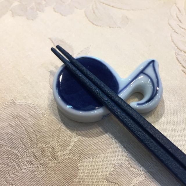 ハーモニー 8分おんぷ箸置 しん窯 青花