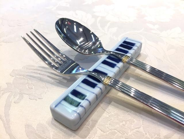ハーモニー ピアノカトラリーレスト(2個入り)  しん窯 青花