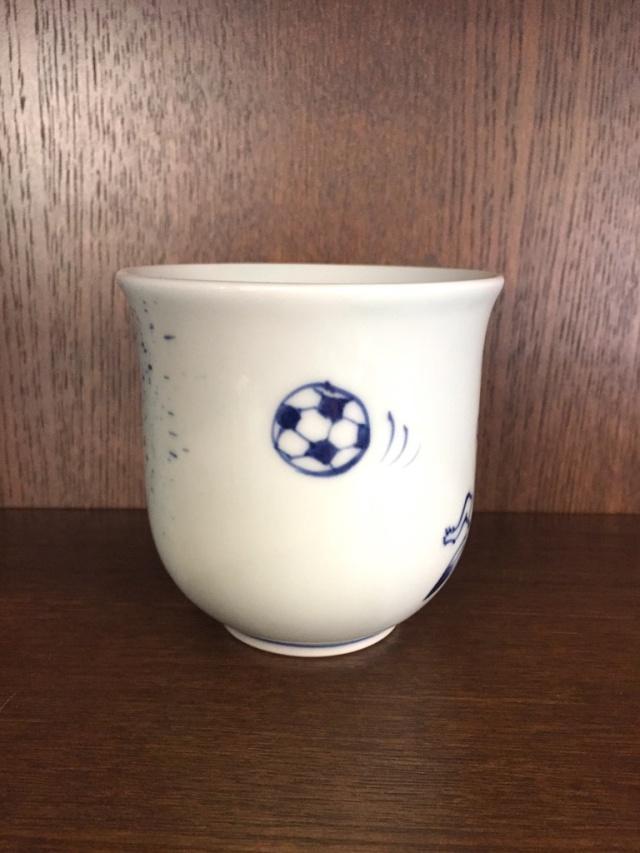 GIGAサッカー マグカップ しん窯 青花