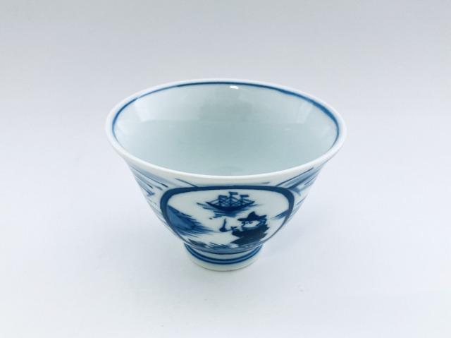長崎紋百合型煎茶 しん窯 青花