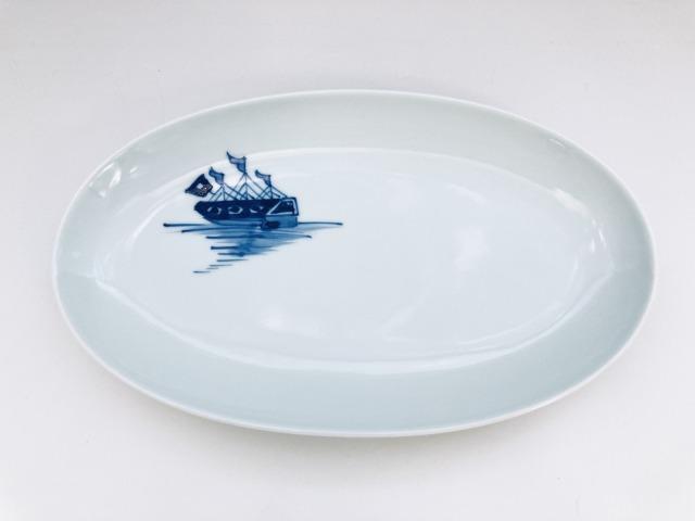 オランダ船幅広焼皿 しん窯青花