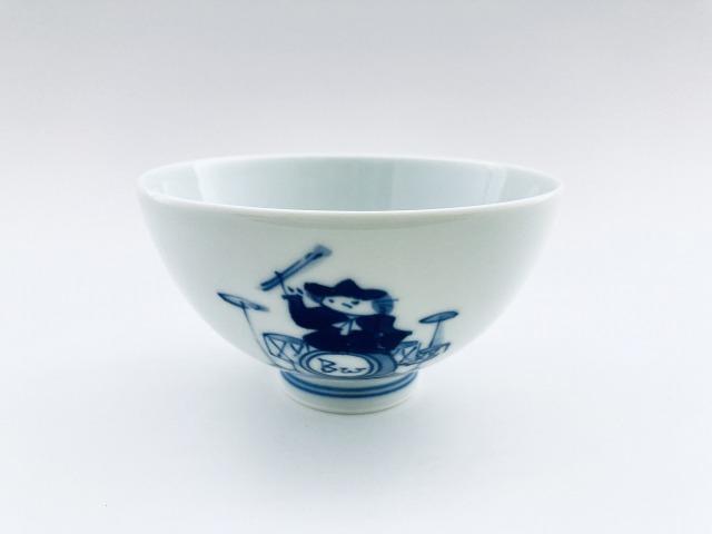 ロック3.8寸丸飯碗 しん窯青花 限定商品