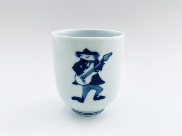 ロック湯呑(大) しん窯青花 限定商品