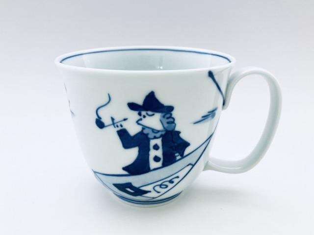 便り異人フリーマグカップ(大)しん窯青花