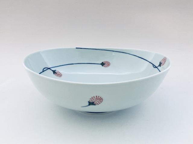 つるいちご楕円盛鉢 しん窯青花匠