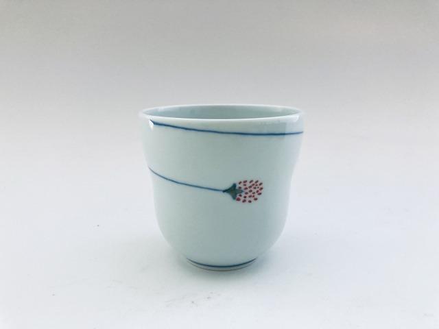 つるいちご瓢型湯呑 しん窯青花匠