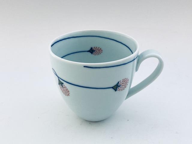 つるいちごマグカップ しん窯青花匠