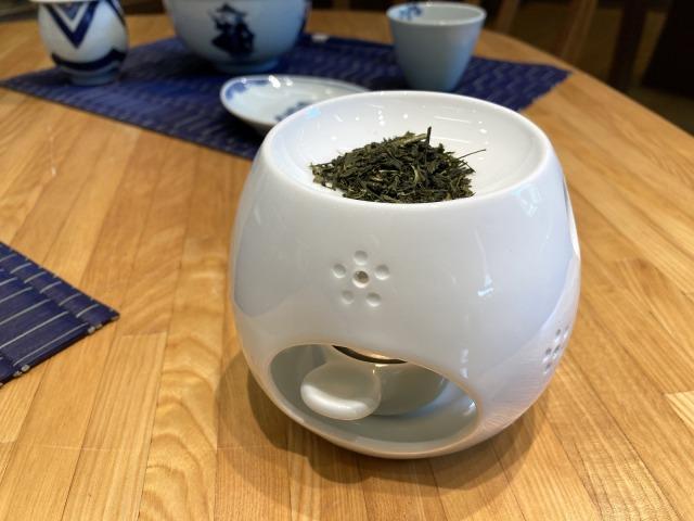 UME茶香炉 しん窯青花匠