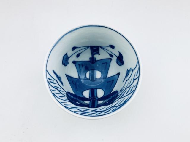 内舟外人形百合型煎茶 しん窯 青花
