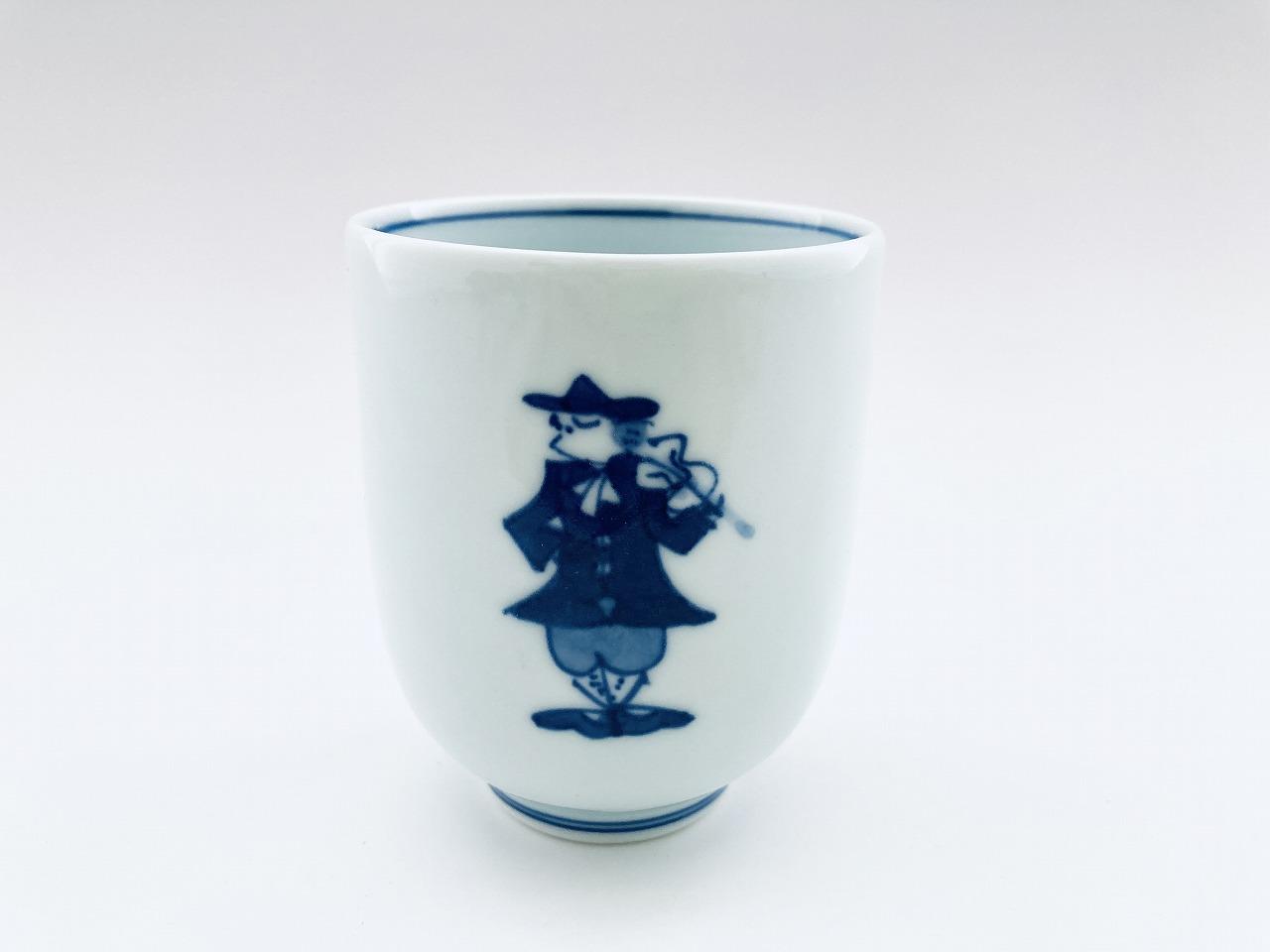 二重奏 湯呑(大) しん窯青花