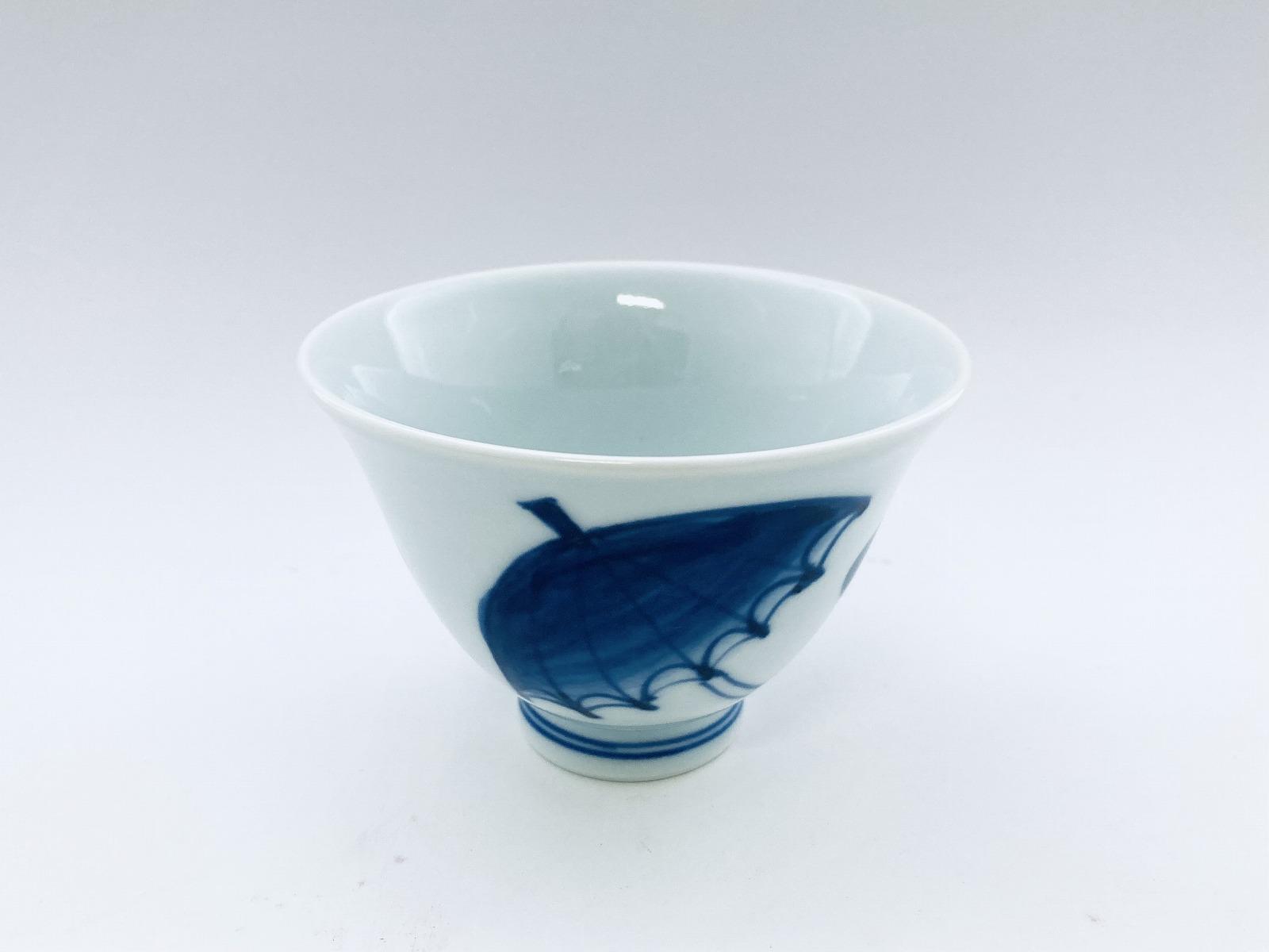 パラソル百合型煎茶 しん窯 青花