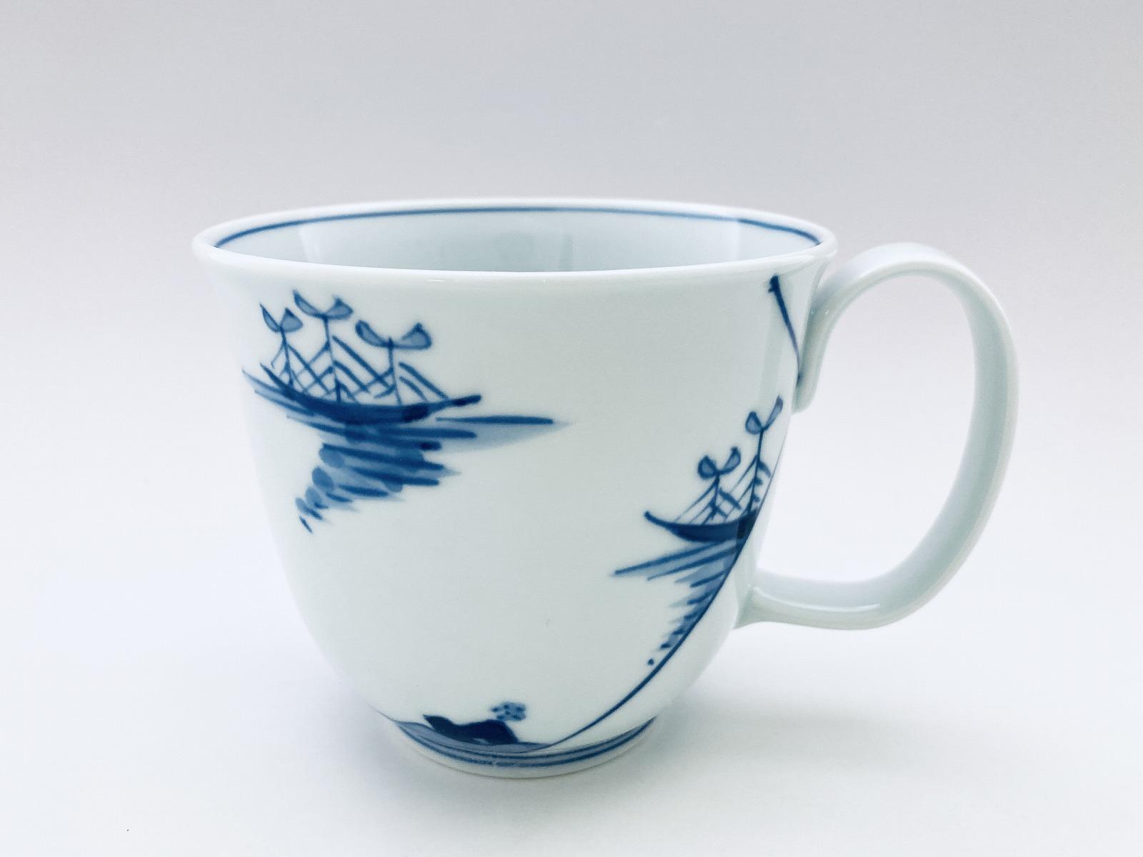 ステッキ異人フリーマグカップ(大)しん窯青花