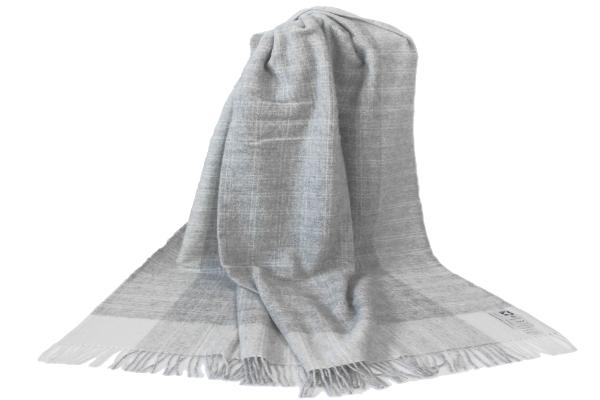 可愛いおしゃれな毛布のシルケボーウールブランケット北欧テイストのひざ掛けチェック柄商品画像