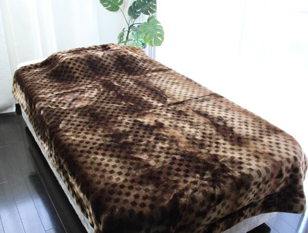 静電気防止糸のクラカーボ使用のパチパチしないアクリル毛布日本製のシングルサイズの商品画像