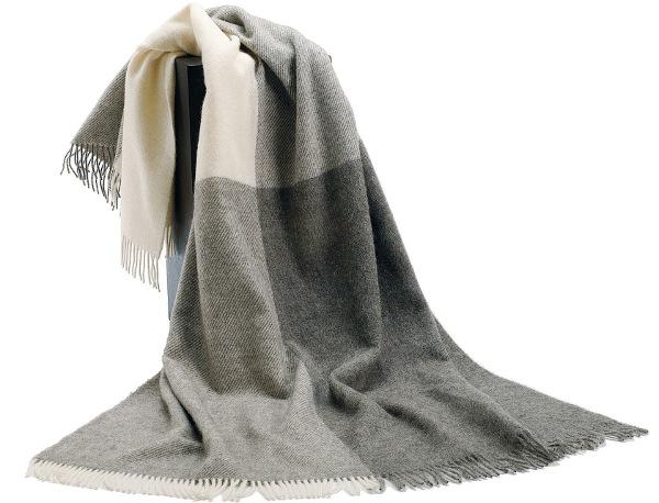可愛いおしゃれな毛布のシルケボーウールブランケット北欧テイストチェック柄の商品畳み