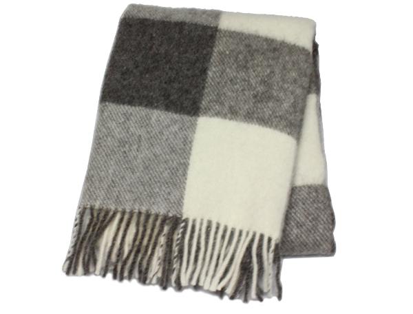 可愛いおしゃれな毛布のシルケボーウールブランケット北欧テイストのひざ掛け商品画像