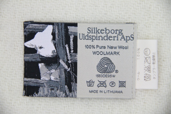 可愛いおしゃれな毛布のシルケボーウールブランケット北欧テイストのロゴ