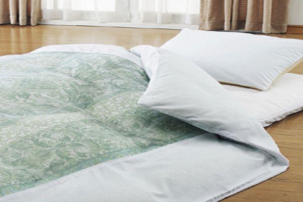 綿100%のおすすめ洗える掛布団カバーシングルサイズ150×210cmおしゃれなネット張り布団カバーのホワイト
