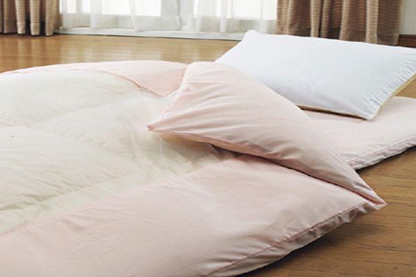 綿100%のおすすめ洗える掛布団カバーシングルサイズ150×210cmおしゃれなネット張り布団カバーのピンク