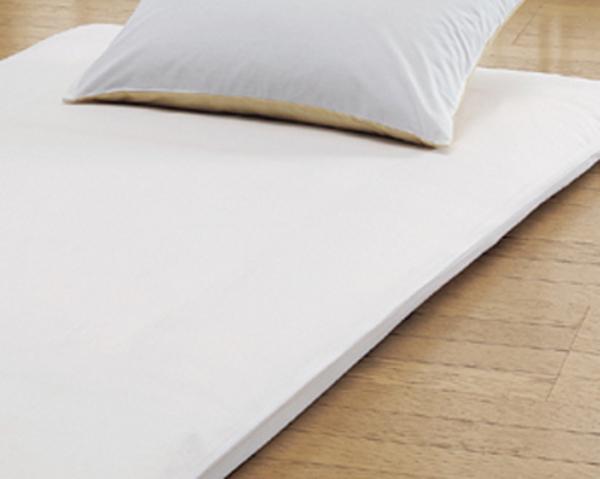 綿100%のおすすめ洗えるツイル織敷布団カバーシングルサイズ105×215cm丈夫な布団カバーのホワイト