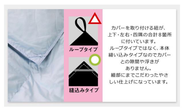 洗える合掛布団ペズリー人気のおすすめ掛布団の布団脱着形状詳細