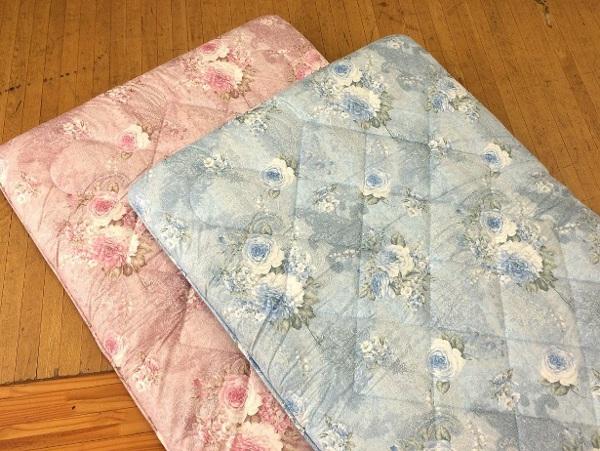 京都西川の三層式の敷布団日本製花柄シングルサイズ100×210cmのソラーレ硬めタイプの商品全体