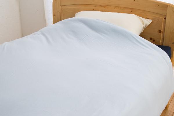 やわらかニット素材のあったか機能付掛け布団カバーシングルサイズのカラーブルーの商品イメージ