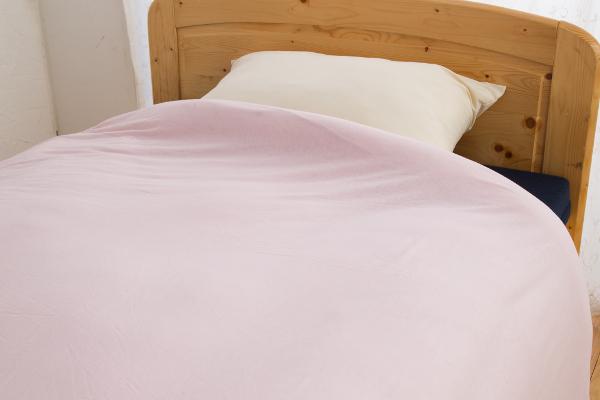 やわらかニット素材のあったか機能付掛け布団カバーシングルサイズのカラーピンクの商品イメージ
