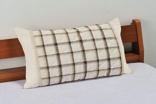 麻混二重ガーゼ枕パッド クラボウの「クールレイ」使用の枕パッド サイズ 35×70cm 麻素材枕パッド
