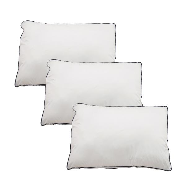 Goosely グースリー 枕 3個セット 羽毛 のような ふんわり 快眠 洗える まくら 43×63cm